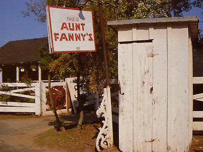 Aunt Fanny's Cabin ,Outhouse, Famous Restaurant, Vintage Post Card, Smyrna GA