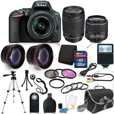 Nikon D5500 Digital SLR Camera 4 Lens Kit 18-55mm VR + 70-300 mm + 32GB Kit