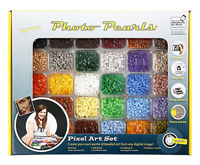 PHOTO PEARLS® bunt Kit NABBI 7.500 Bügelperlen mit Software f eigene Fotos 75598