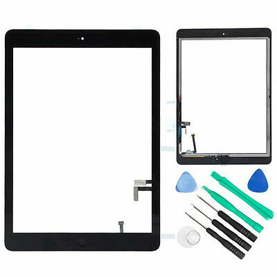 A++ Black Glass Touch Screen Digitizer w/Home Button for iPad Air 1 A1474 A1475