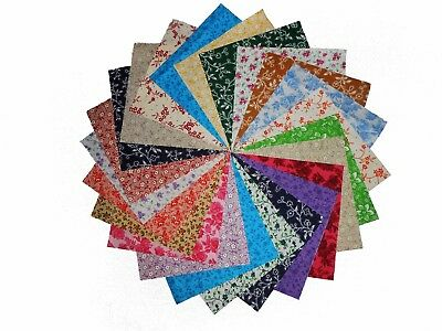 """80 5"""" Quilting Fabric Squares/ Antique Calico Reproductions/Charms 3 !!!"""