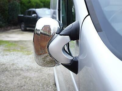 Chrome Stainless Steel 2pc Door Wing Mirror Covers for Vauxhall Vivaro (01-14)