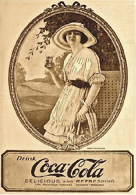 "Targa Vintage ""coca Cola For Canada"" Pubblicita', Advertising, Poster, Bar Plate"