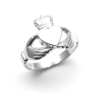 Claddagh Ring .925 Silver Highly Polished Mirror Finish