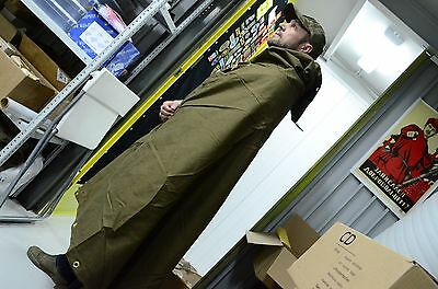Genuine Soviet and Russian Army rain cape, Olive Green Army poncho plash-palatka