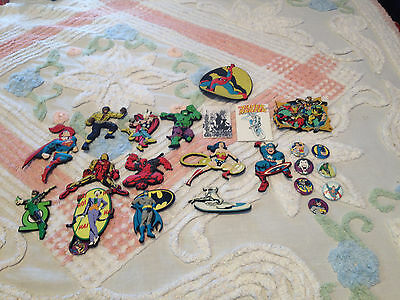 Mix Lot of 24 Marvel and DC Comics Magnets - Avengers - Super Heroes