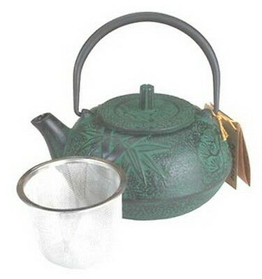 Cast Iron Teapot Tetsubin Kettle 18oz Green Bamboo TB2-06G S-2526