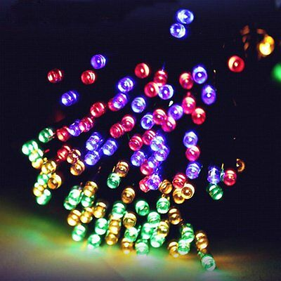 Warm White 100 LED Solar Powered Outdoor String Lights Garden Christmas Wedding