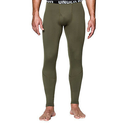 Under Armour Mens Coldgear Infrared Tactical Fitted Compression Leggings Green
