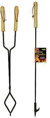 """Campfire Fire Pit Fireplace Extra Long Tongs and Fire Tender Poker 36"""""""