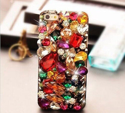 Bling Bling Rhinestone Diamond Crystal Cell Phone Cover Case For iPhone 6 Plus