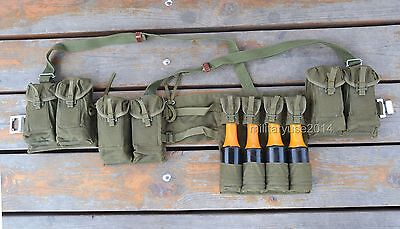 Surplus Chinese Type 63 Rifle Combat Webbing Bandolier Gear Pouches