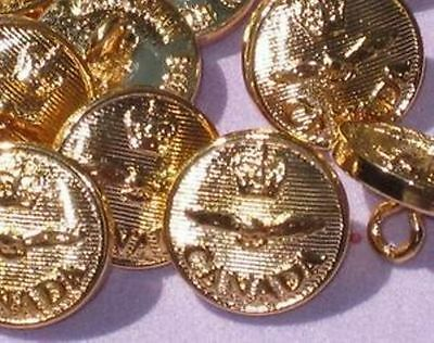 """Set 14 CANADA AIR FORCE Metal Buttons 5/8"""" BACK MARKED"""
