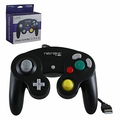 Retrolink Wired Nintendo GameCube Style USB Controller For PC And Mac Black