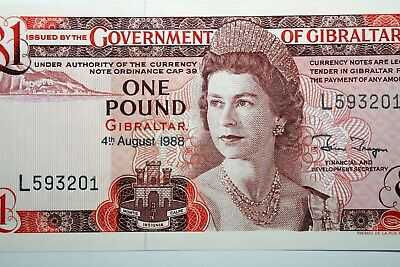 Great Value: 1988 One Pound Note Issued by Covenant of Gibraltar (NUM1628)