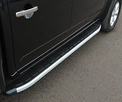 Aluminium Running Boards Side Steps Side Bars For Nissan Navara D40 2005-2015