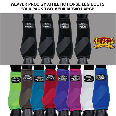 Weaver Prodigy Athletic Horse Leg Boots Front Rear Four Pack