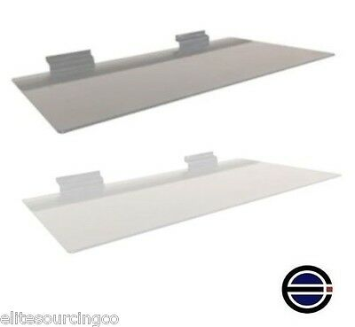 "Metal Display Shelves for Slatwall, 6"" deep x 12"" long, Lot of 10"