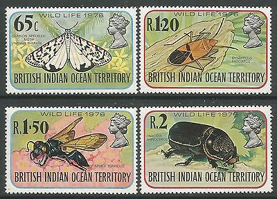 B.I.O.T. 1976. Wildlife (4th Series-Insects) Set. SG: 86/89. Mint Never Hinged.