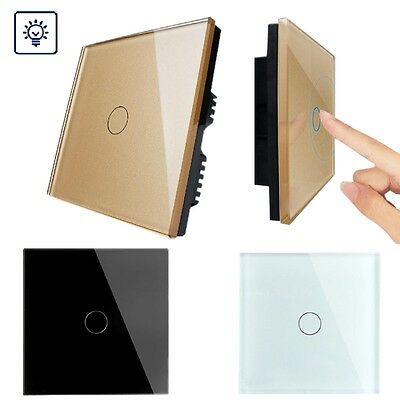 Waterproof Crystal Glass Panel Smart Light Touch Screen Dimmer Wall Switch