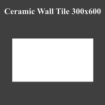 Gloss White Ceramic Wall Tile 300x600 Rectified