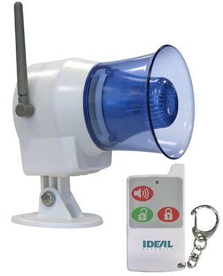 NEW Ideal Security Inc. SK626 Wireless Indoor Outdoor Siren with Remote Control