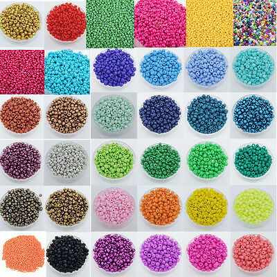 Lots 45g(1350pcs) Colorful Czech Glass Seed Spacer beads Jewelry Making DIY 3mm