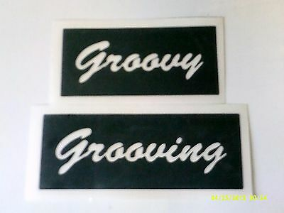 10 - 400 Groovy & Grooviing word stencils (mixed) for etching on glass