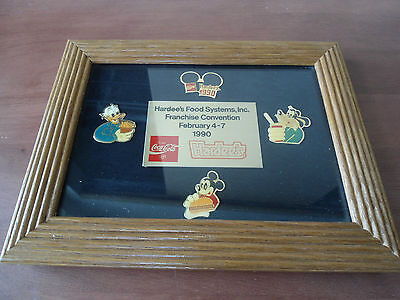 **Extremely Rare Hardee's Franchise Convention Disney Pin Set**