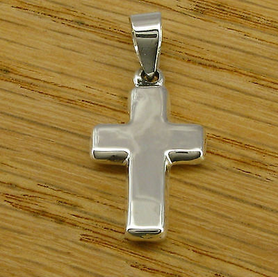 Small THICK CROSS PENDANT in SOLID 925 Sterling Silver - Price Reduced AGAIN!
