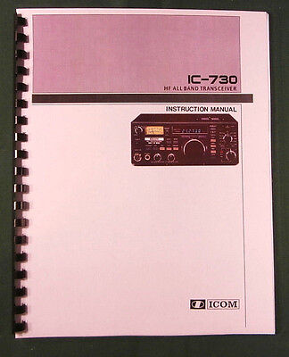 ICOM IC-706MKIIG Instruction Manual Premium Card Stock Covers /& 32 LB Paper!