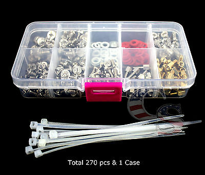 Quality 270 pcs Desktop PC Computer Laptop Assortment Screw kit Pack & Free Case