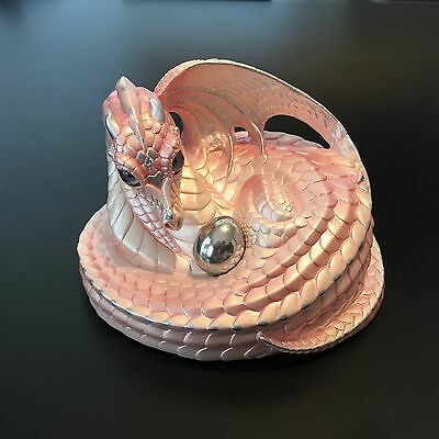 Windstone Editions Shell Pink Mother Coiled Dragon