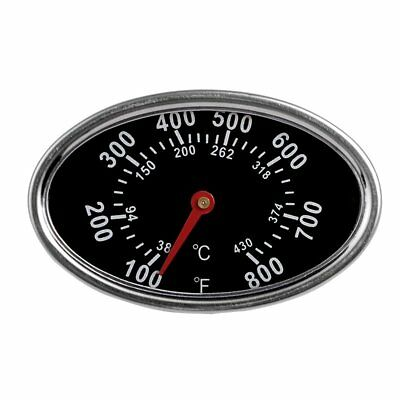 38-430°C Barbecue BBQ Smoker Grill Stainless Steel Thermometer Temperature Gauge