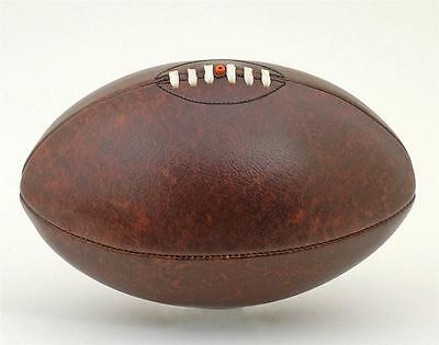 Vintage Leather-Look PU Antique Retro style Lace-up Rugby Ball size 5 Brown
