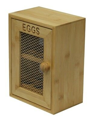 2 Tier Chicken Egg Holder Cupboard Cabinet Kitchen Storage Wood Wooden Egg Rack