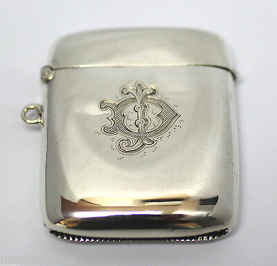 Antique Sterling Silver Match Case