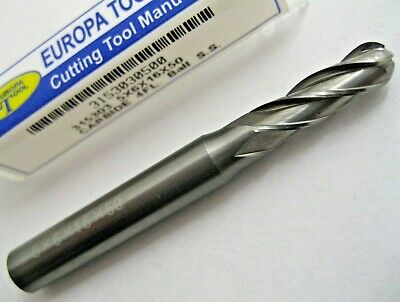 5mm SOLID CARBIDE 4 FLUTED BALL NOSED END MILL EUROPA TOOL 3153030500  #10