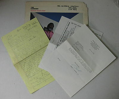 TED HAWKINS Watch Your Step 1982 LP AUTOGRAPHED To His MOTHER + Letter From JAIL