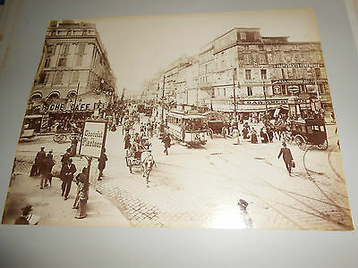 2 Photos Nd 1900 Marseille Rue Cannebiere + Monte Carlo Internal Of Casino