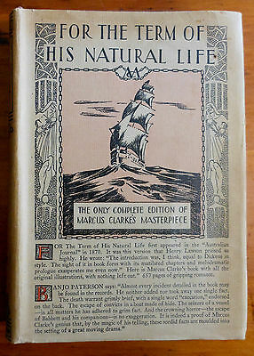 CLARKE, Marcus. For the Term of His Natural Life. Sydney: 1929.