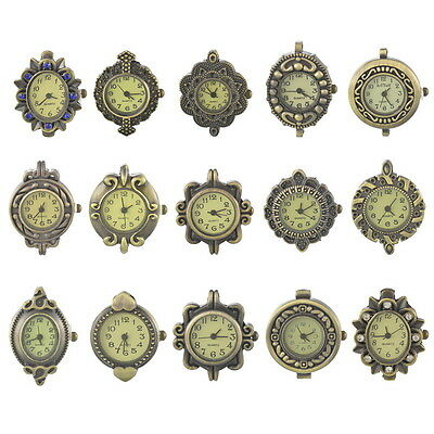 1PC Retro Bronze Tone Watch Face For DIY Jewelry Making Many Styles Choose