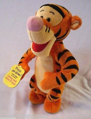 Disney Winnie the Pooh Press Me Doing I boing and Wave! Tigger Plush Toy Doll