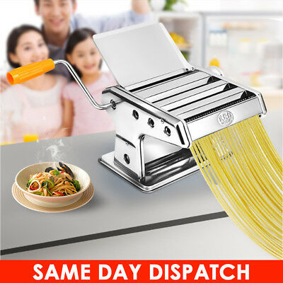 Pasta Maker Spaghetti Tool Roller Lasagne Tagliatelle Machine Stainless Steel Uk