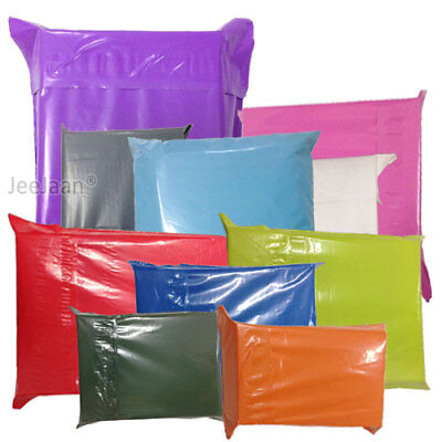 Strong Coloured Plastic Mailing Bags Poly Postage Postal Self Seal - All Sizes