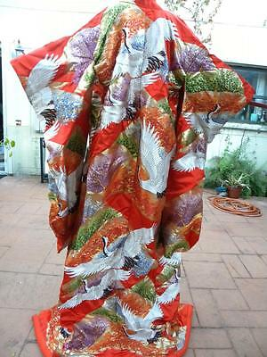 Amazing Vintage Uchikake Japanese Embroidered Wedding Kimono