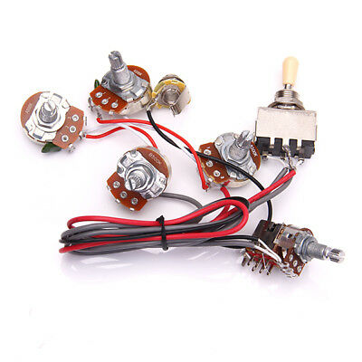 guitar prewired wiring harness set w 2 volume 2 tone 3 way switch guitar wiring harness 2v 2t 3way switch kit for gibson lp les paul guitars