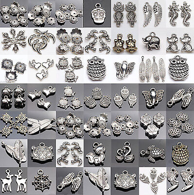 Tibet Silver Spacer Necklace Pendant Charm Jewelry Making Bracelet Craft DIY