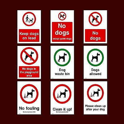 No Dogs / Playground / Fouling / Clean it up - Plastic Sign, Sticker - All Sizes
