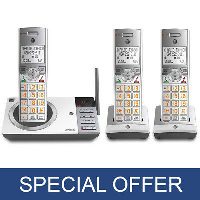 AT&T DECT 6.0 3 Handset Cordless Phone with Digital Answering System - NEW